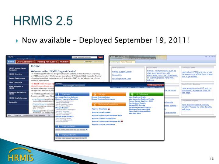 HRMIS 2.5