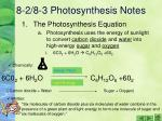 8 2 8 3 photosynthesis notes