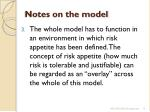 notes on the model2