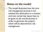 notes on the model4