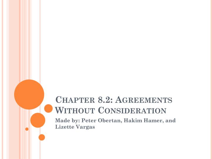chapter 8 2 agreements without consideration n.
