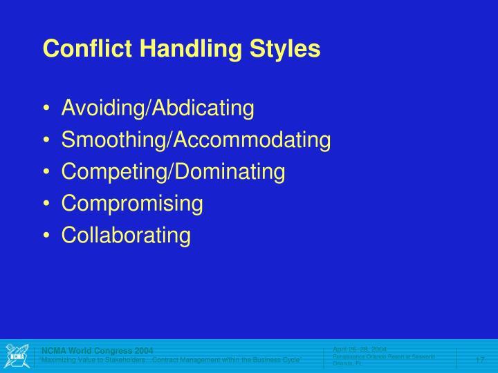 Conflict Handling Styles
