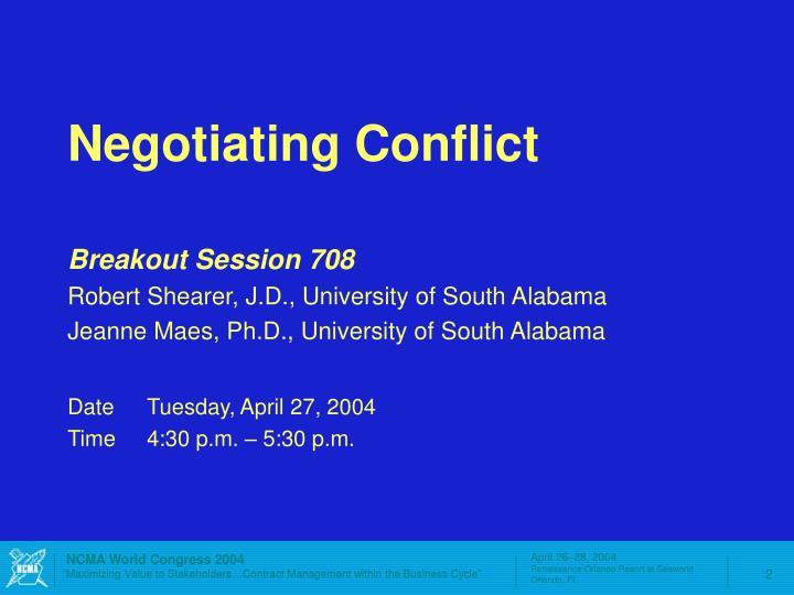 Negotiating Conflict