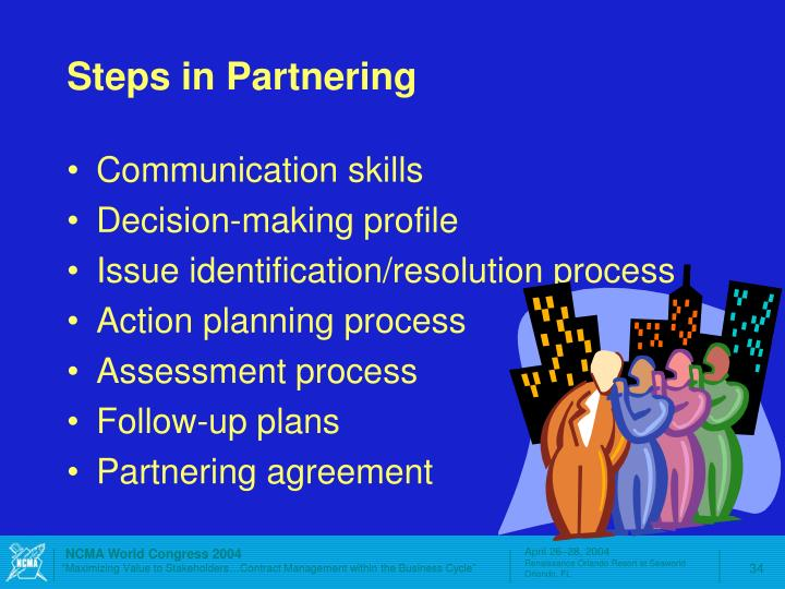 Steps in Partnering