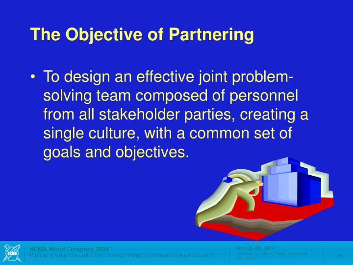 The Objective of Partnering