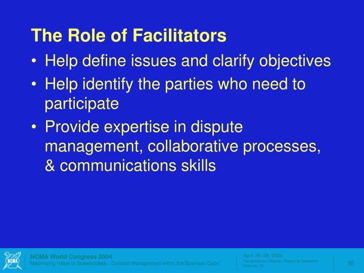 The Role of Facilitators
