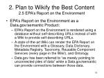 2 plan to wikify the best content 2 5 epa s report on the environment1