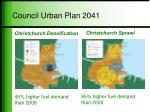 council urban plan 2041
