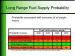 long range fuel supply probability