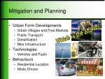 mitigation and planning