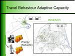 travel behaviour adaptive capacity