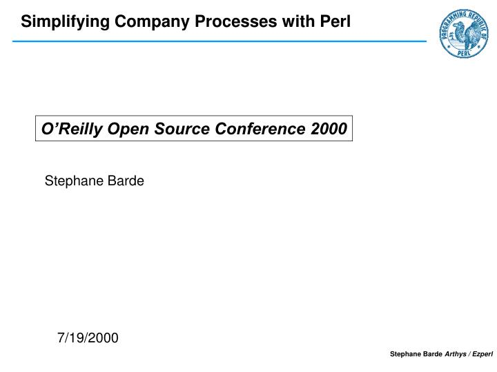 O'Reilly Open Source Conference 2000