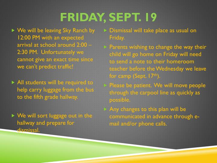 Friday, Sept.