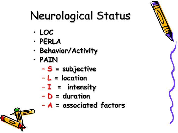 Neurological Status