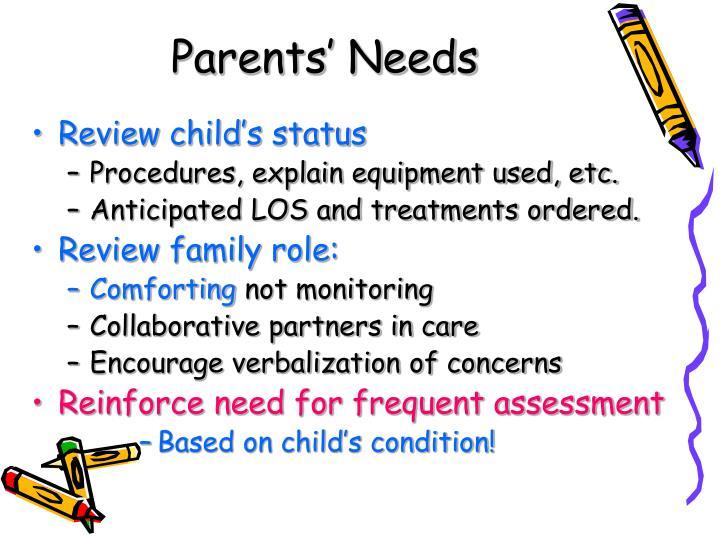 Parents' Needs