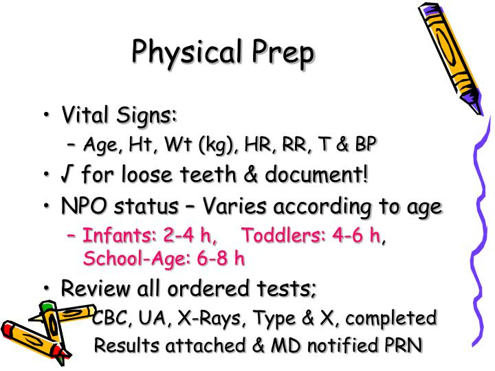 Physical Prep