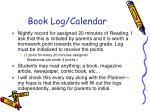 book log calendar