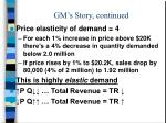gm s story continued