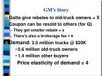gm s story
