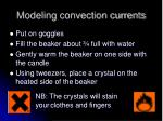 modeling convection currents