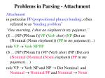 problems in parsing attachment