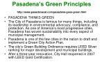 pasadena s green principles http www pasadenacal com pasadena goes green html
