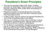 pasadena s green principles