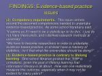 findings e vidence based practice issues1