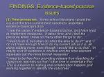 findings e vidence based practice issues2
