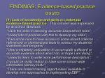 findings e vidence based practice issues3