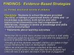 findings evidence based strategies