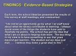 findings evidence based strategies2