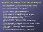 findings evidence based strategies4