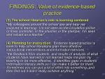 findings value of evidence based practice1