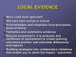 local evidence