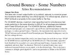 ground bounce some numbers xilinx recommendations