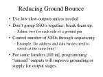 reducing ground bounce