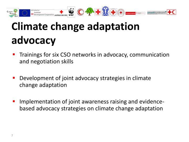 Climate change adaptation advocacy