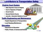 contributors to transportation safety1