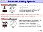 dashboard warning symbols