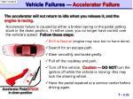 vehicle failures accelerator failure