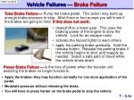 vehicle failures brake failure