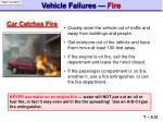 vehicle failures fire
