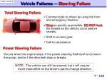 vehicle failures steering failure