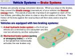 vehicle systems brake systems