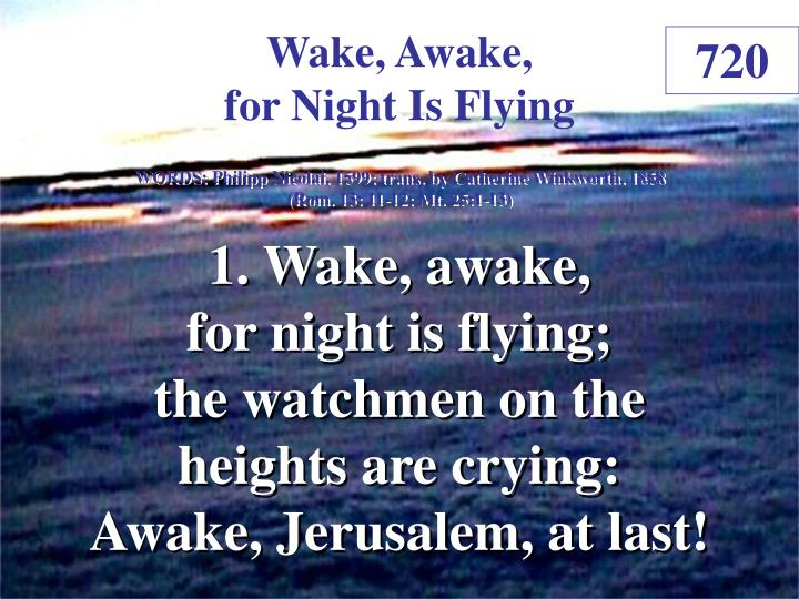wake awake for night is flying 1 n.