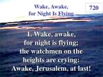 wake awake for night is flying 1