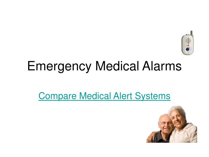 emergency medical alarms n.