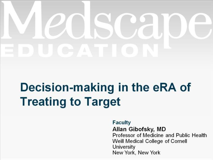 decision making in the era of treating to target n.