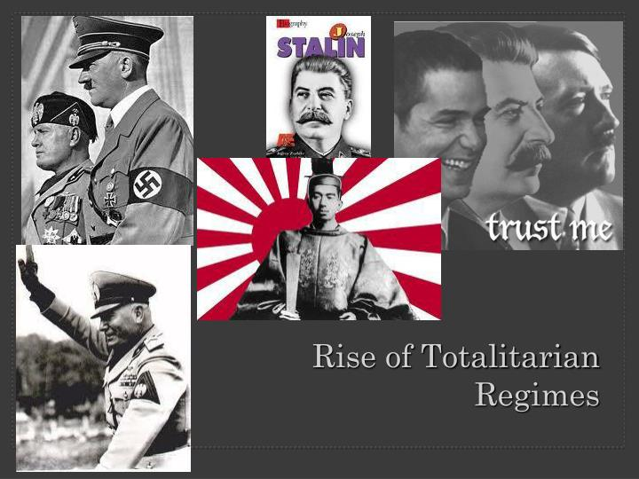 rise of totalitarian regimes n.